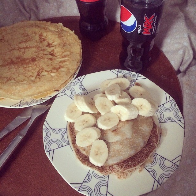 My #vegan coconut pancakes ? #highcarb ?
